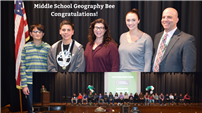 Geography bee winners, staff and participants. thumbnail161336